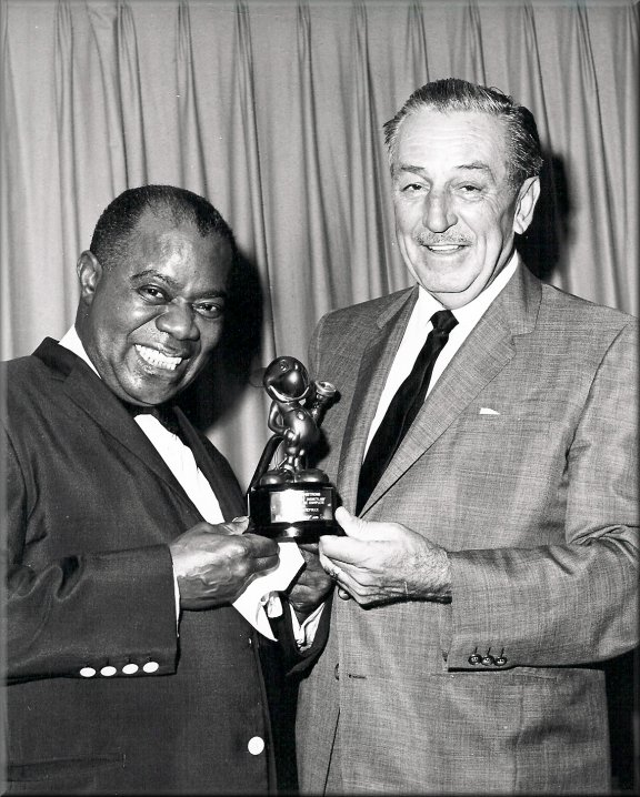 Louis Armstrong and Walt Disney